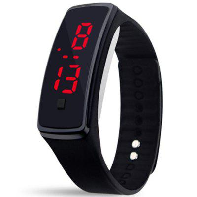 Unisex Rubber LED Watch Data Sports Bransoletka Digital Wrist Watch