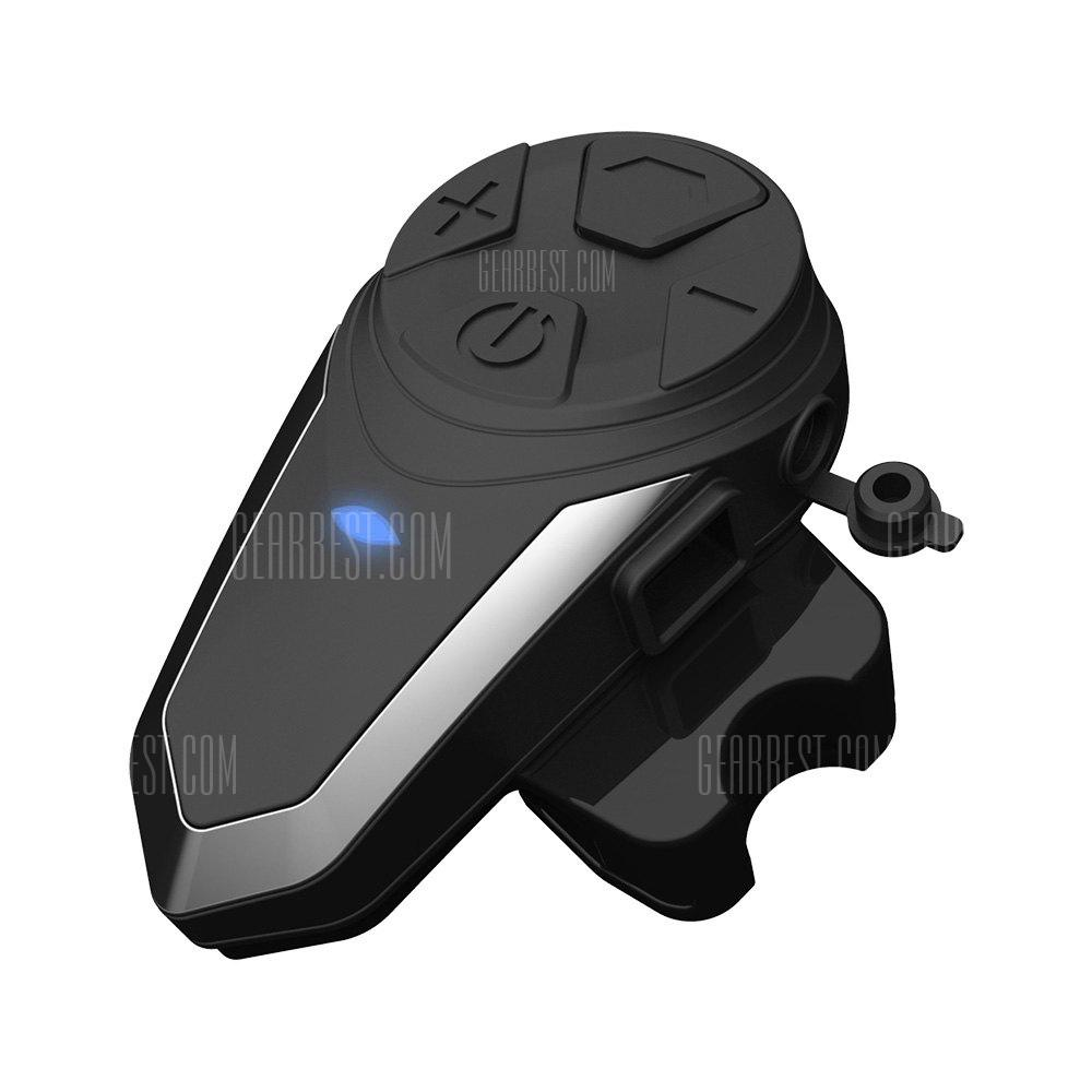BT - S3 Motorcycle Bluetooth Helmet Intercom Headset - BLACK