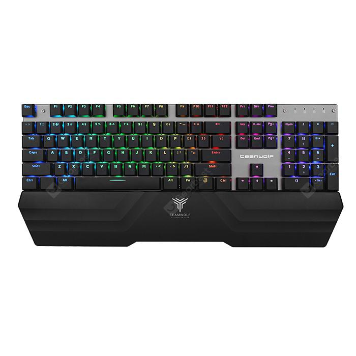 TEAMWOLF X20W 2.4G Wireless / USB Wired Gaming Mechanical Keyboard 104 Keys