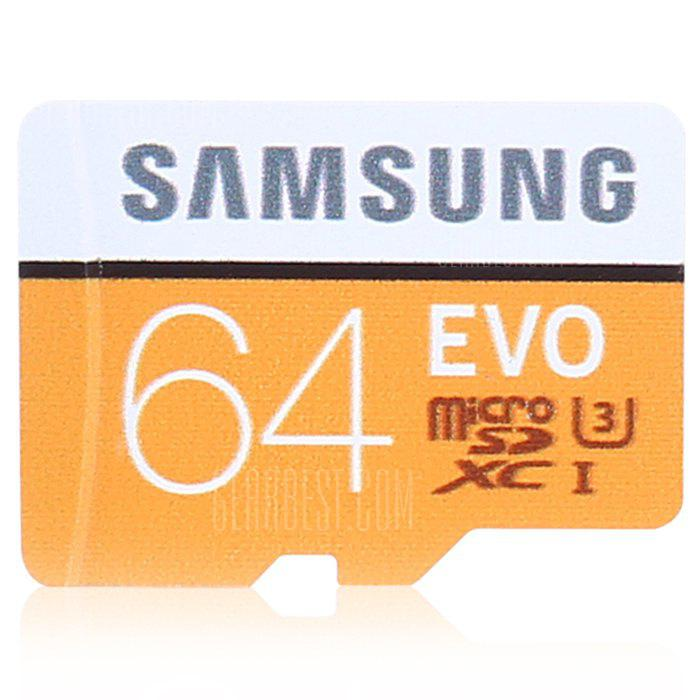 Samsung EVO Ultra Micro SDXC UHS-3 Professional Memory Card - ORANGE + WHITE 64GB