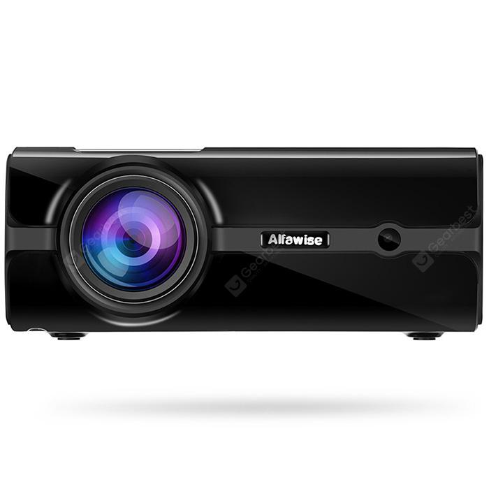 Alfawise A12 2000 Lumens Smart Projector - Black EU Plug(Without OS)