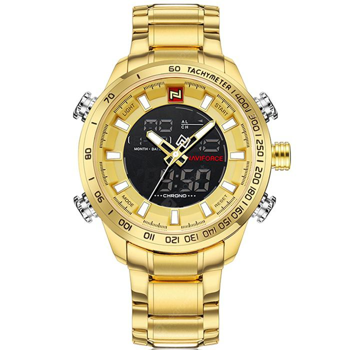 Gearbest NAVIFORCE 9093 Business Men Watch - GOLDEN