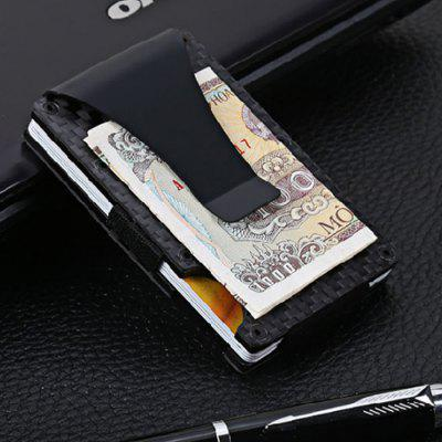 Slim Carbon Fiber Credit Card Holder RFID Blocking Metal Wallet Money Clip Case 2017 men leather brand luxury wallet vintage minimalist short male purses money clip credit card dollar price portomonee