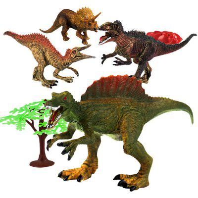 MoFun Dinosaur Model Toy Table Decoration Gifts for Boys 4pcs jurassic dinosaur model plastic animal height simulation giganotosaurus action figure toys collection for kids gifts