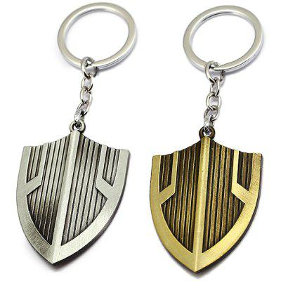 Creative Zinc Alloy Shield Shape Key Chain