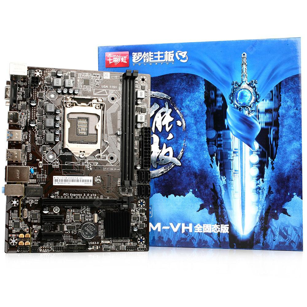 Colorful C.H110M - VH Plus V20 Motherboard - NATURAL BLACK