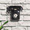 Retro Wall Telephone Decoration Crafts - BLACK