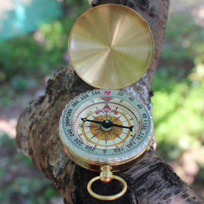 Deluxe Outdoor Compass Keychain for Hiking Camping