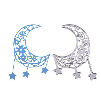 DIY Carbon Steel Moon Stars Pattern Cutting Die diy oval lace window embossed mould carbon steel cutting die