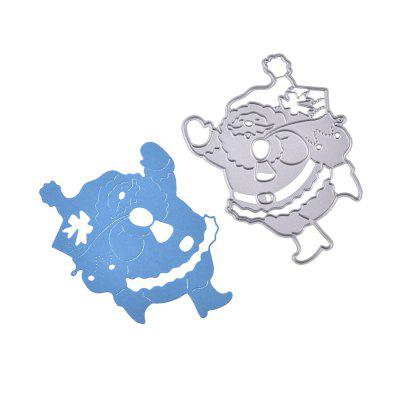 DIY Carbon Steel Santa Claus Pattern Cutting Die diy round frame carved flower pattern carbon steel cutting die