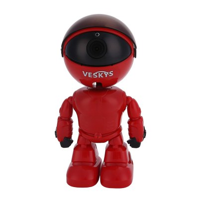 VESKYS N14 1080P HD WiFi 2.0MP Wireless Robot IP Camera misecu new 4ch 8ch mini nvr full hd real p2p standalone cctv nvr 1920 1080p onvif for 1080p 960p 720p ip camera security system