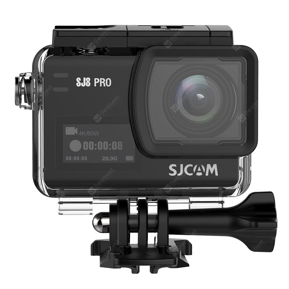 Original SJCAM SJ8 Pro 4K 60fps WiFi Action Camera - Black FULL SET