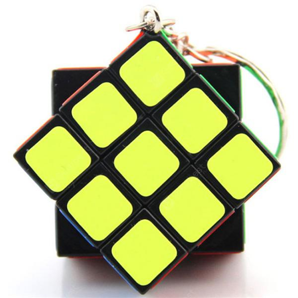 Mini Finger Magic Cube key Chain - MULTI