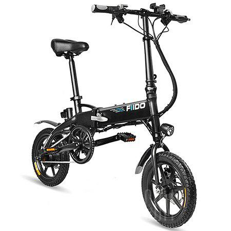 FIIDO D1 Folding Electric Bike Moped Bicycle - BLACK 7.8AH BATTERY