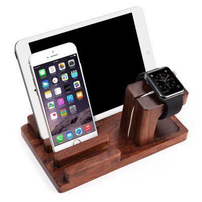 Practical Wooden Desktop Phone Stand Tablet Holder