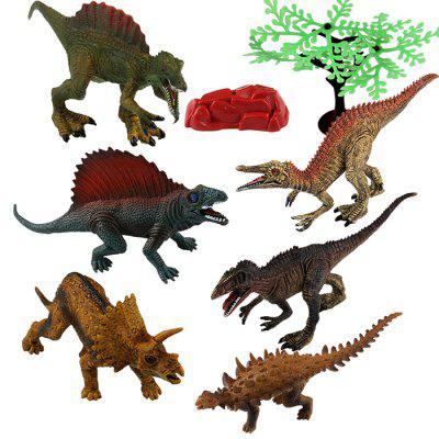 Dinosaur Model Toy Table Decoration Kids Gift 6pcs
