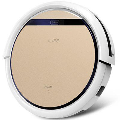 Gearbest ILIFE V5S Pro Intelligent Robotic Vacuum Cleaner - CHAMPAGNE GOLD EU PLUG Smart Remote Control 2 in 1 Dry Wet Sweeping Robot