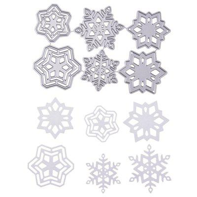 Carbon Steel Snow Flake Pattern Cutting Die Set diy round frame carved flower pattern carbon steel cutting die
