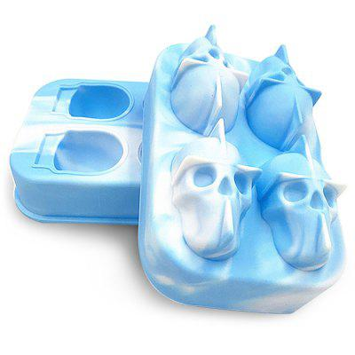 3D Ice Mold Silicone Skull Cube
