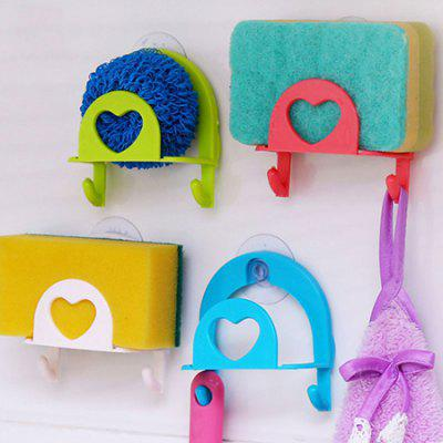 Suction Dish Sponge Towel Rack Home Storage Hook