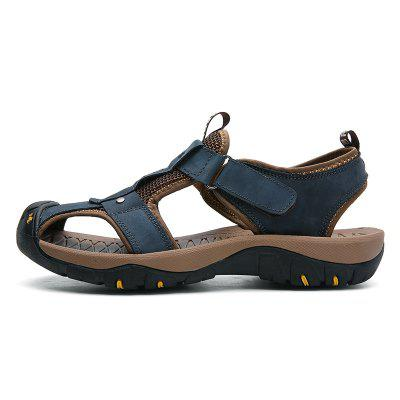 Fashionable Solid Leather Sandals for Men