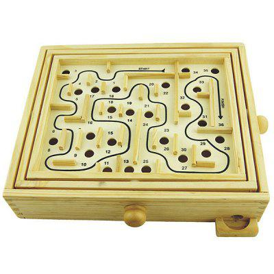 Wooden Beads Maze Educational Toy for Kids baby kids colorful wooden beads labyrinth maze game children toy wooden toy mini around beads wire maze educational game wj 094