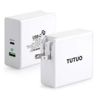 TUTUO PD - 001PT USB-C Charge Adapter 60W EU / US / UK Plug