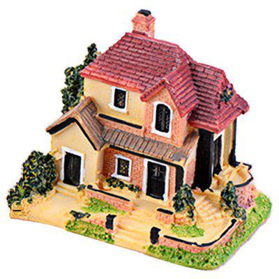Microlandschaft Resin Mini Villa stolní dekorace model Toy