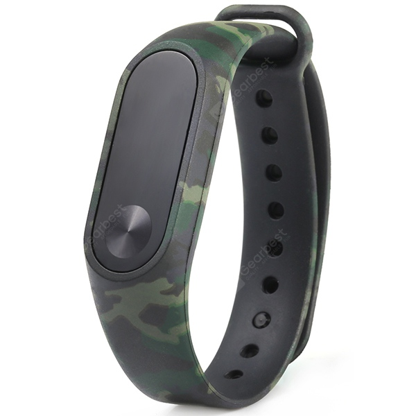 Camouflage Pattern Watch Strap for Xiaomi Mi Band 2 | Gearbest