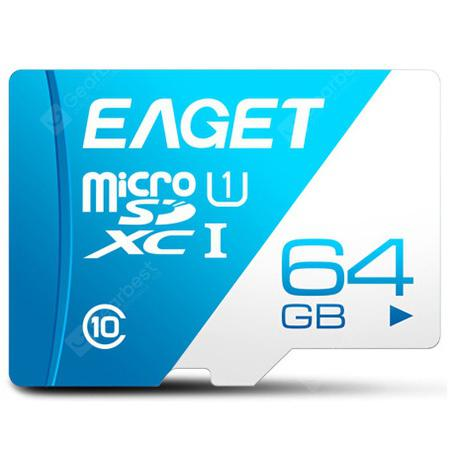 3.21 Party On EAGET T1 High Speed UHS-I Flash TF Micro Memory Card - Royal Blue 64G