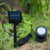 VCT - ST001 6 LEDs Outdoor Underwater Solar Power Light - BLACK