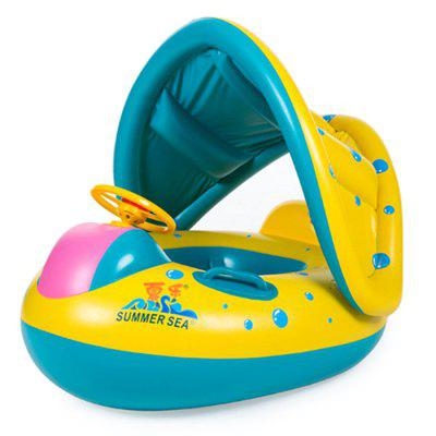 Inflatable Children Swimming Ring Seat Floating Boat giant duck inflatable pool float swimming ring women floating bed liferaft inflatable duck yellow float inflatable water toys