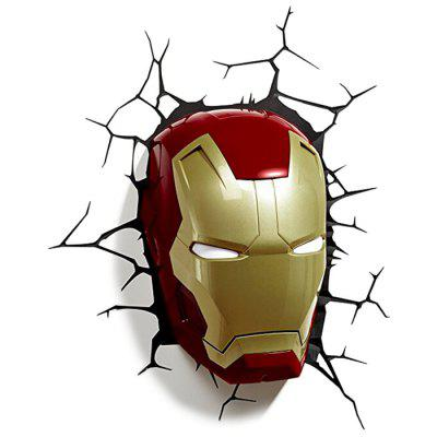 Hero Mask Design LED Light Wall Lamp