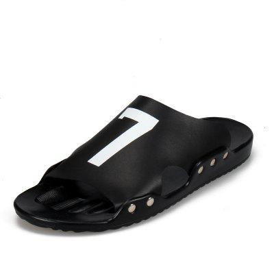 Fashionable Simple Solid Slippers for Men