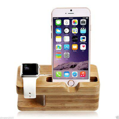 Tabletop Bamboo Phone Stand Watch Holder