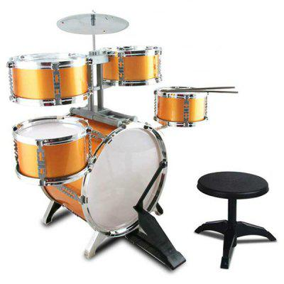 Large Drum Set with Chair Percussion Music Instrument Kids Toy