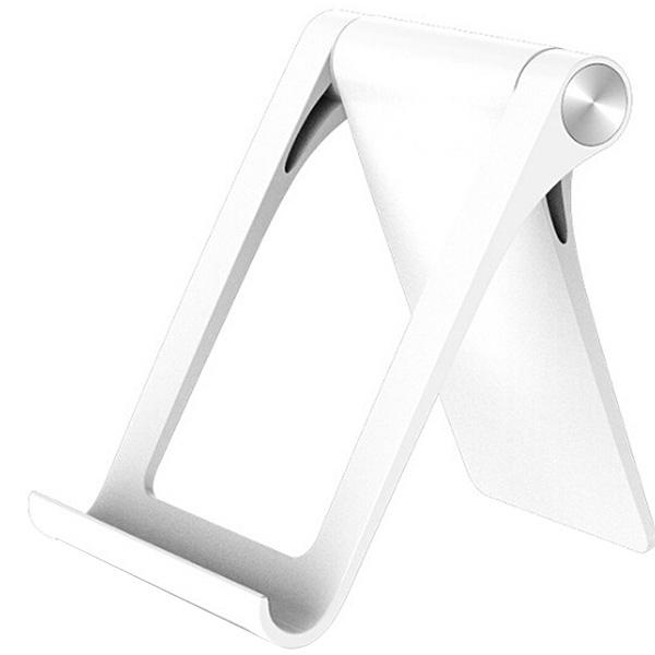 Foldable ABS Adjustable Tablet Stand  -  White
