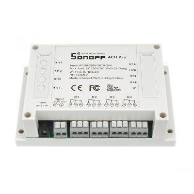 SONOFF 4CH Pro 4 Gang WiFi RF Smart Switch for DIY Smart Home