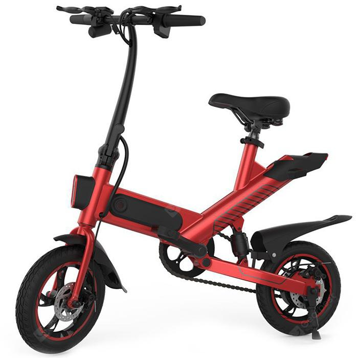 GUANGYA Y1 Smart Folding Bike Moped Bike elektrikoa E-bike - RED EU PLUG