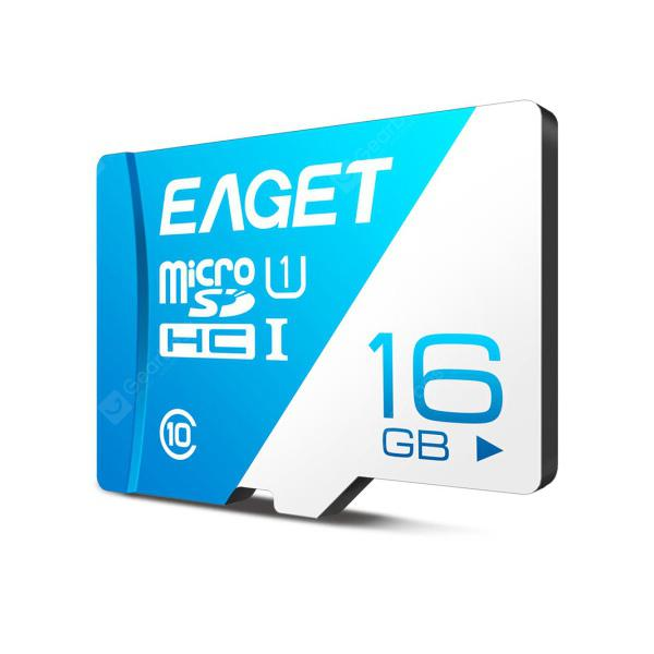 EAGET T1 High Speed UHS-I Flash TF Micro Memory Card - ROYAL BLUE 16G