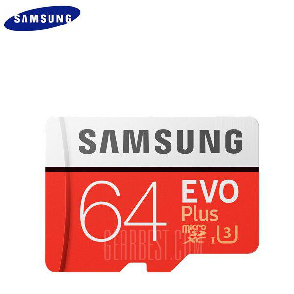 Samsung UHS-3 Class10 Micro SDXC Memory Card - RED 64G