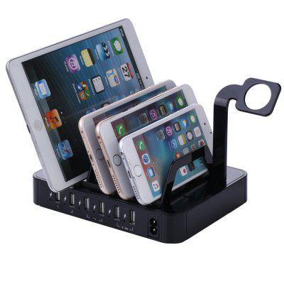 6 USB Stand Universal Fast Charger Watch Holder