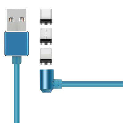 Micro USB / Type-C / 8 Pin 3 in 1 Magnetic Cable 100cm