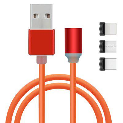 Micro USB / Type-C / 8 Pin 3 in 1 Magnetic Catch Cable 100cm