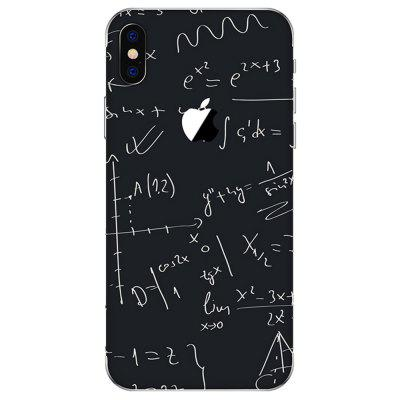 Mathematical Formula Frosted Surface Back Film for iPhone X