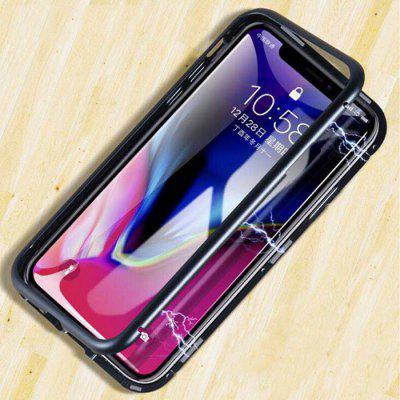 Creative Magnetic Tempered Glass Phone Case f...
