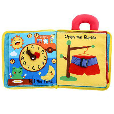 Beiens Baby Washable Non-toxic Soft 3D Cloth Book