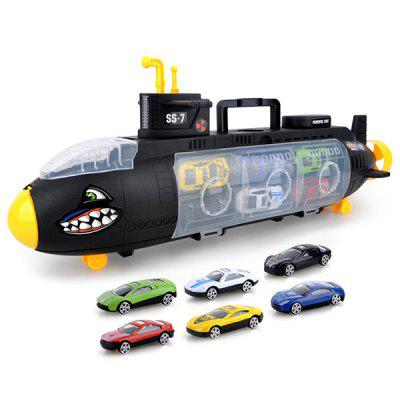 Kids Shark Submarine with Six Alloy Cars Models Toy