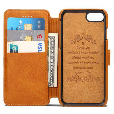 Leather Insert Card Protective Phone Case for iPhone 8