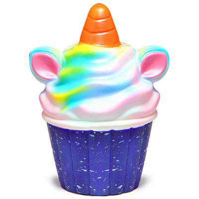 PU Slow Rebound Unicorn Cupcakes Squishy Toys 1pc